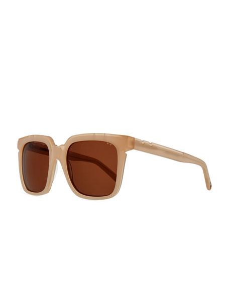 PARED EYEWEAR Razzle & Dazzle Square Sunglasses in Pink