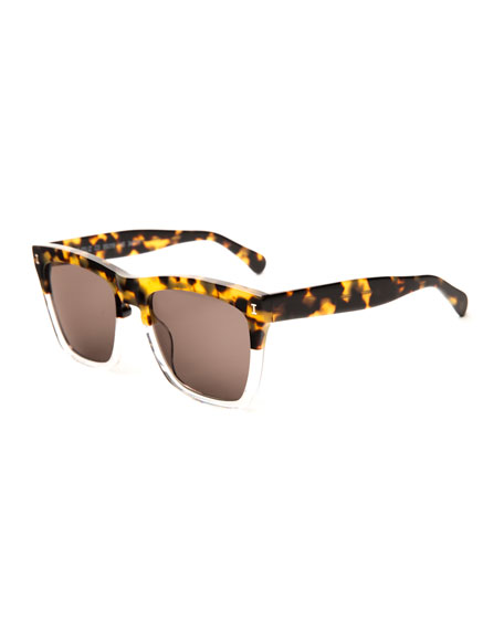 Illesteva Two-Tone Square Sunglasses