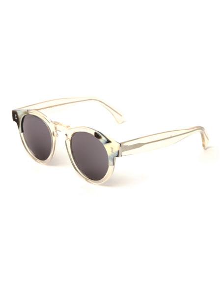 Illesteva Round Transparent Sunglasses