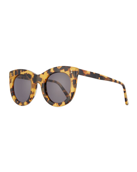 Illesteva Boca II Cat-Eye Sunglasses, Brown