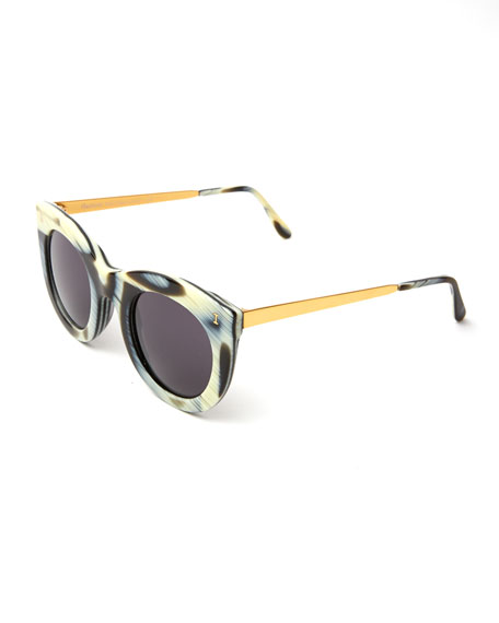 Boca II Cat-Eye Sunglasses, Multi Pattern