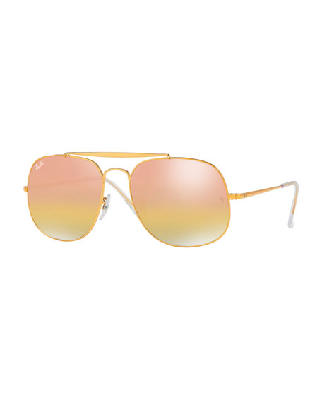 Ray-Ban Iridescent Square Sunglasses, Light Brown