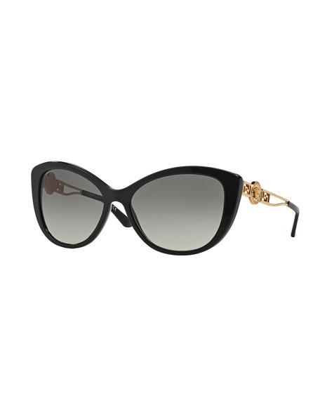 Versace Cat-Eye Gradient Medusa Sunglasses