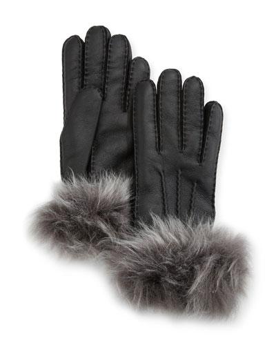 Three-Point Toscana Gloves w/ Shearling Cuffs