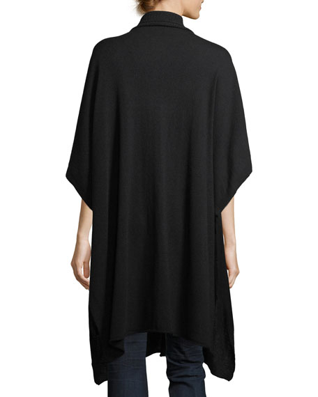 Seasonless Cashmere Turtleneck Long Poncho