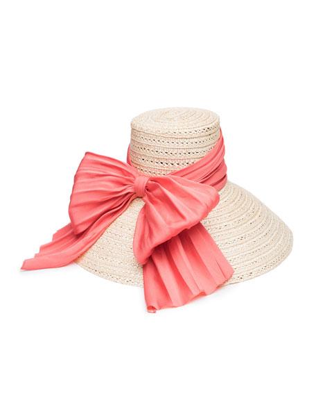 Eugenia Kim Mirabel Straw Sun Hat w/ Large