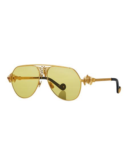 Anna-Karin Karlsson Miss Rosell Aviator Sunglasses w/ 3D