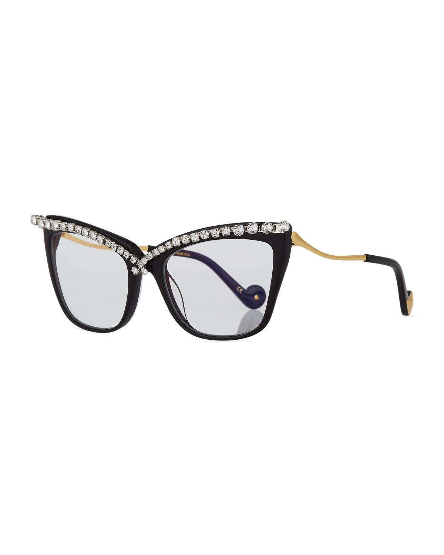 7c595230c7ff6 Anna-Karin Karlsson Lusciousness Divine Cat-Eye Crystal Optical Frames