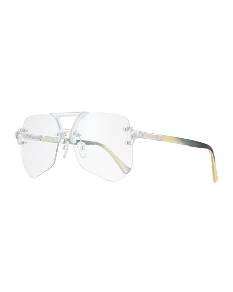 Grey Ant Yesway Transparent Rimless Optical Frames, Gray