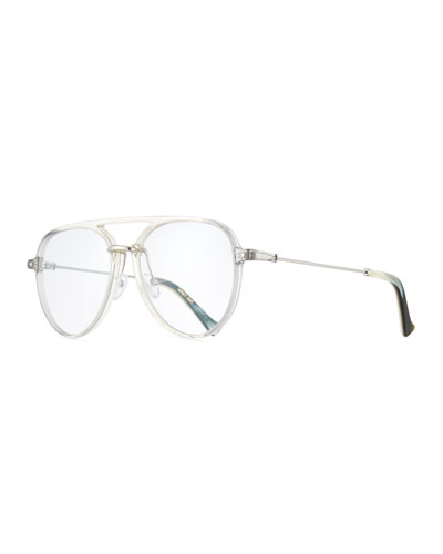 Praph Transparent Aviator Optical Frames, Gray