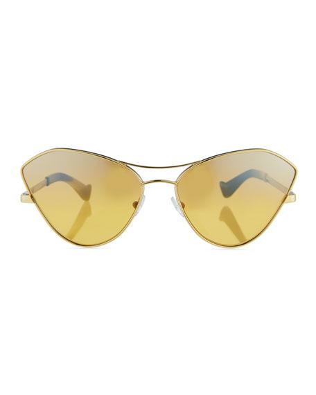 Fluxus Cat-Eye Mirrored Sunglasses
