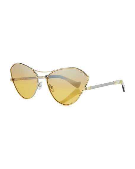 Grey Ant Fluxus Cat-Eye Mirrored Sunglasses