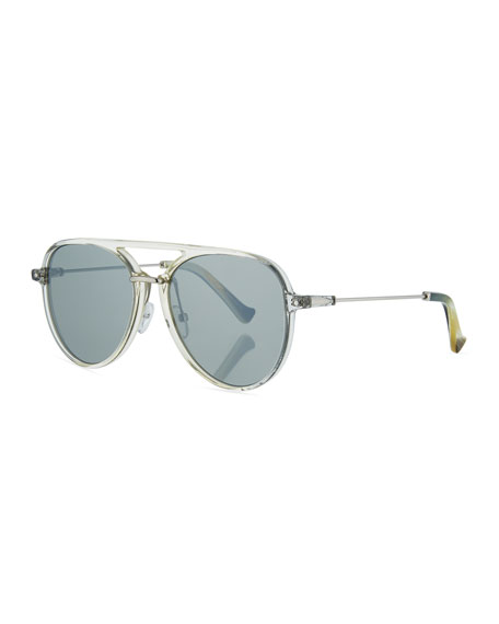 Grey Ant Praph Acetate Aviator Sunglasses, Clear