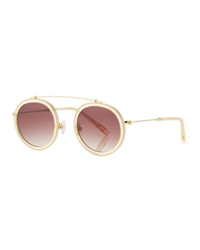 Conti Gradient Aviator Sunglasses, Champagne