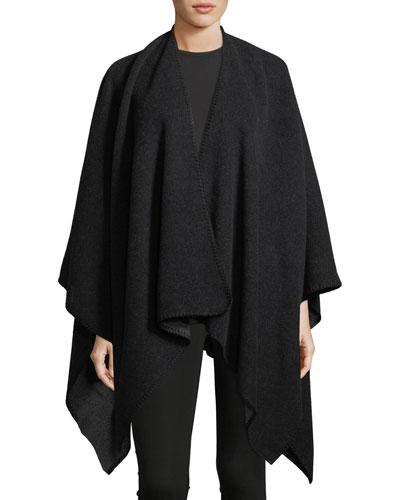 Merino Wool Woven Poncho