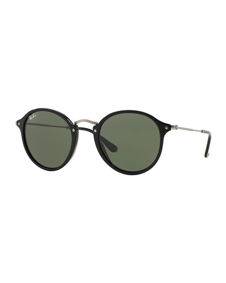 Round Plastic/Metal Sunglasses