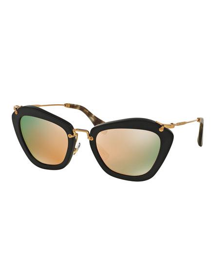 Cat-Eye Acetate Sunglasses