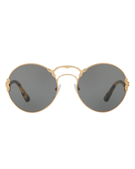 Monochromatic Round Sunglasses