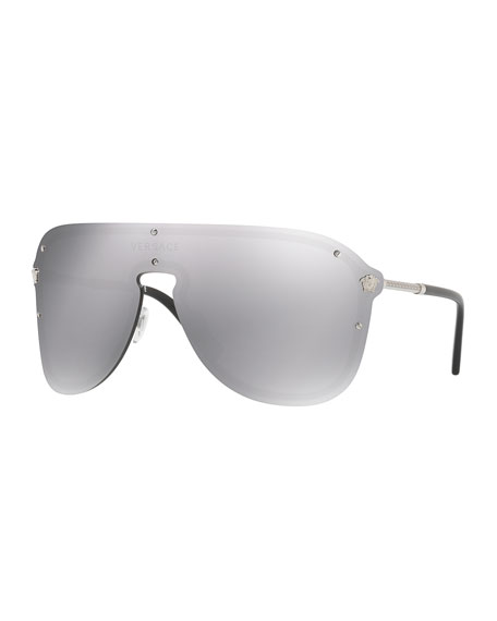 Versace Greek Key Shield Sunglasses