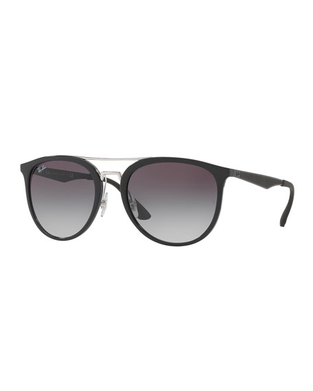 Ray-Ban Round Gradient Brow-Bar Sunglasses