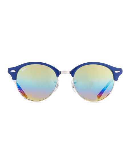 Round Mirrored Clubmaster® Sunglasses