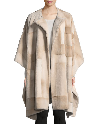 Marcella Shaved Mink Cape