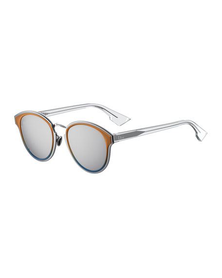 DiorNightfall Square Mirrored Sunglasses