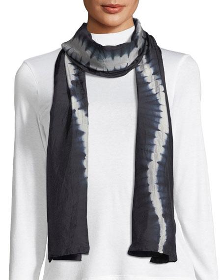 Shibori Luminescent Silk Scarf