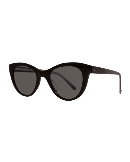 Garrett Leight x Claire Vivier Cat-Eye Transparent Acetate