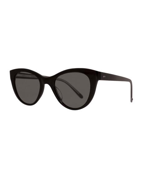 x Claire Vivier Cat-Eye Transparent Acetate Sunglasses