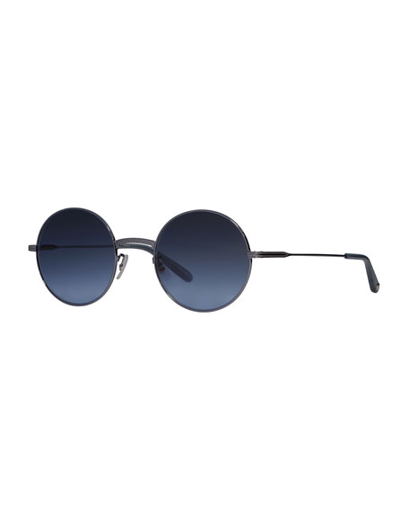 Garrett Leight Seville Round Metal Sunglasses
