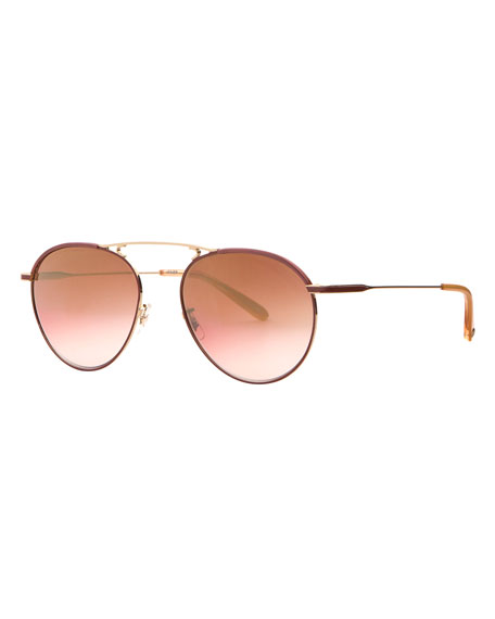 Garrett Leight Innes Aviator Sunglasses