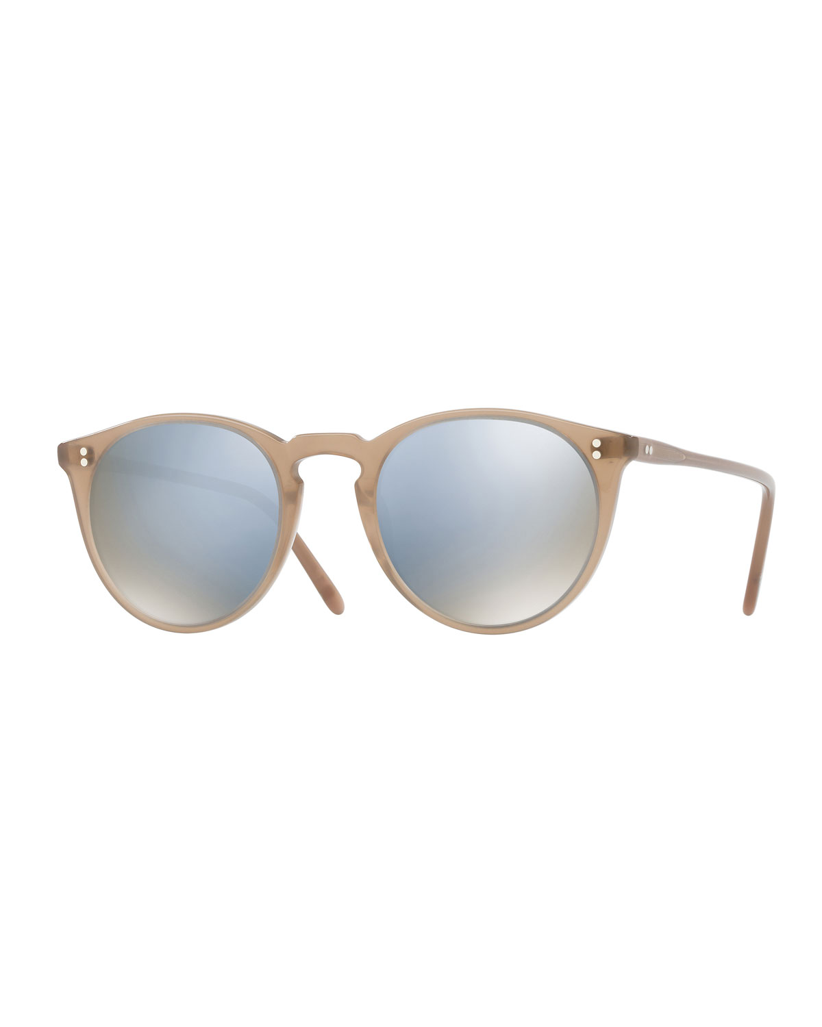 1e51cdaa1e9 Oliver Peoples O Malley NYC Peaked Round Mirrored Sunglasses ...