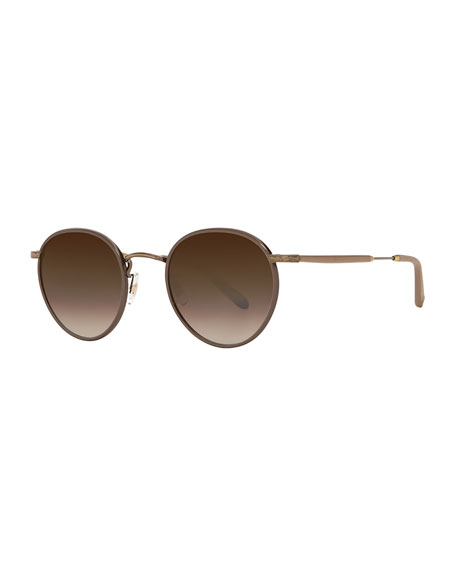 Garrett Leight Wilson Round Gradient Filigree Sunglasses