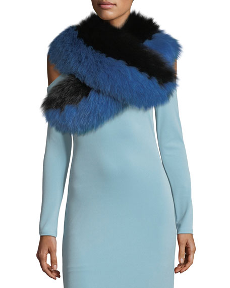 Alice + Olivia Oversized Fox-Fur Collar