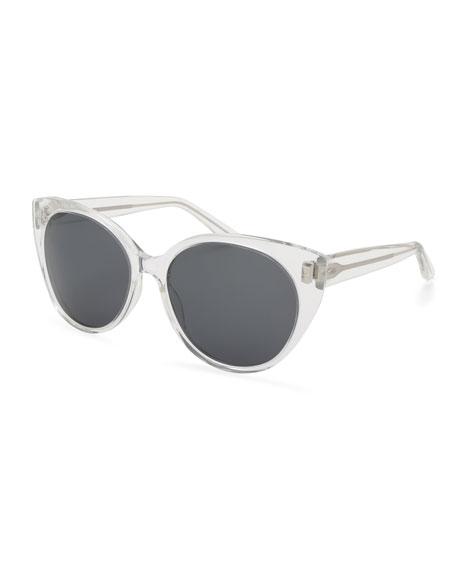 Barton Perreira Kuuipo Butterfly Transparent Sunglasses, Topaz