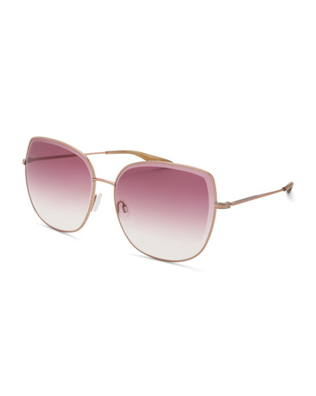 Barton Perreira Espirutu Gradient Butterfly Sunglasses, Rose Gold