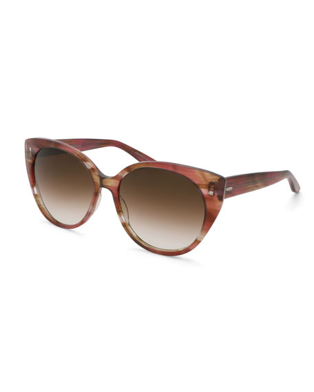 Barton Perreira Kuuipo Butterfly Gradient Sunglasses, Topaz
