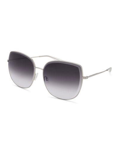 Espirutu Gradient Butterfly Sunglasses, Gray