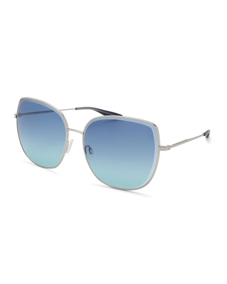 Barton Perreira Espirutu Gradient Butterfly Sunglasses, Gold