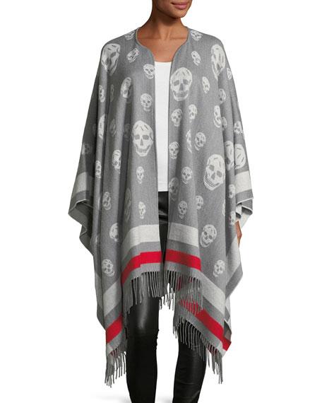 Alexander McQueen Big Skull Wool-Cashmere Cape