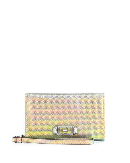 Rebecca Minkoff Lovelock Iridescent Leather Wristlet Phone Bag