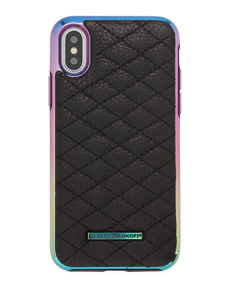 Rebecca Minkoff Quilted Love Oil Slick Phone Case
