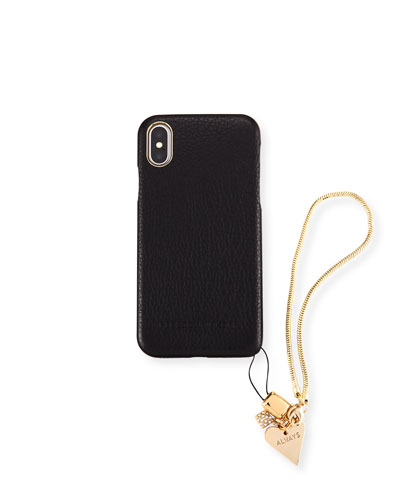 Blackheart Phone Case with Charm for iPhone X