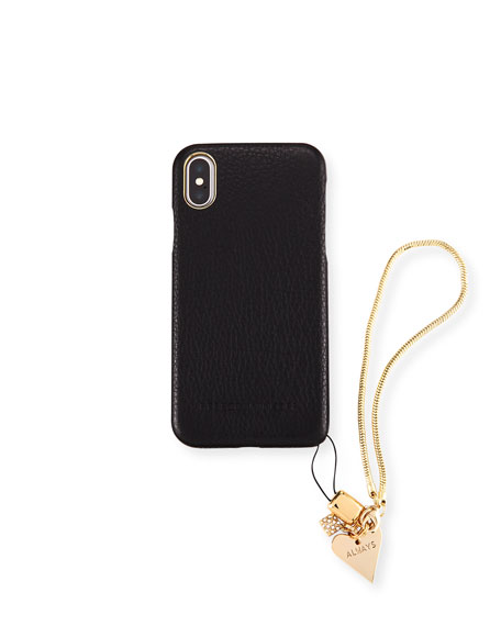 Rebecca Minkoff Blackheart Phone Case with Charm for