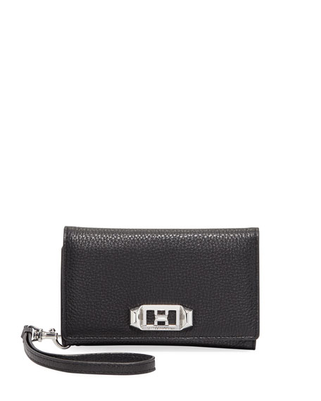 Rebecca Minkoff Lovelock Leather Wristlet Phone Bag with