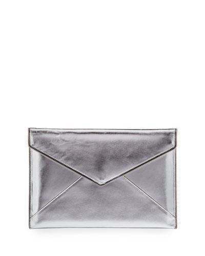 Leo Metallic Envelope Clutch Bag/Tech Sleeve