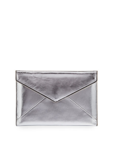 Leo Metallic Envelope Clutch Bag/Tech Sleeve