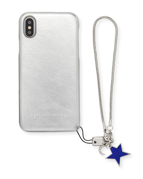 Rebecca Minkoff Metallic Phone Case with Charm for