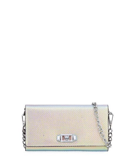 Rebecca Minkoff Lovelock Iridescent Crossbody Phone Case